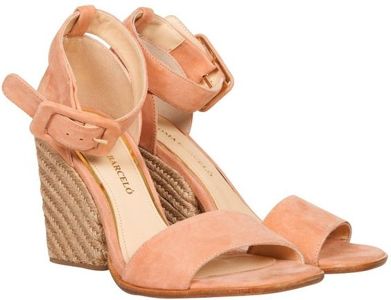 Paloma Barcelo Blush Suede Rope Heel 37