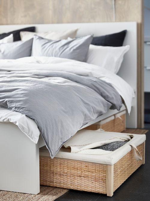 Malm Bettgestell Hoch Weiss Ikea Deutschland In 2020 Stilvolles Schlafzimmer Ideen Fur Kleine Schlafzimmer Bett Mit Aufbewahrung