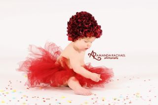I love this, great photo prop!  Hydrangea Hat for Baby Flower Hydrangea by AllDressedUpCouture, $29.99