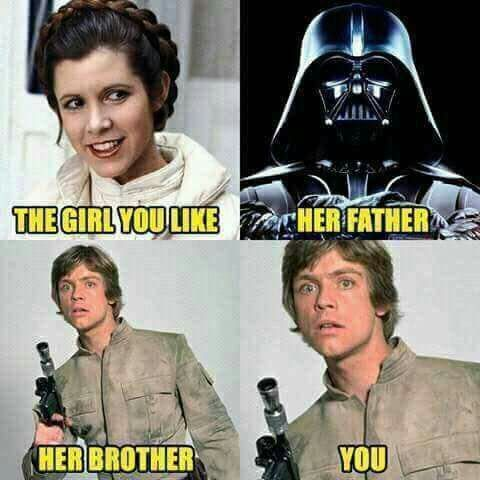 This Is Messed Up On So Many Levels Or Is It This Is So Awkward And So Awesome On Soooooo Many Leve Star Wars Memes Funny Star Wars Memes Star Wars