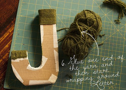 cardboard letters diy how to make cardboard letters and wrap them in yarn ahhh 17850