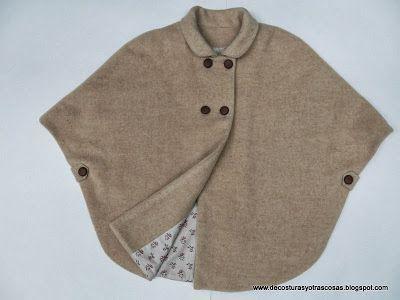 Capa niña: Paso a paso en el blog http://decosturasyotrascosas.blogspot.com.es/2013/12/como-hacer-capa-para-nina.html