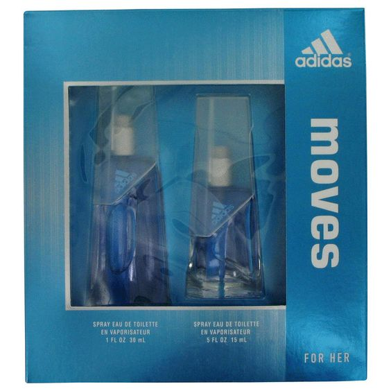 Adidas Moves by Adidas Gift Set -- 1 oz Eau De Toilette Spray + .5 oz Eau De Toilette Spray - generationsstore