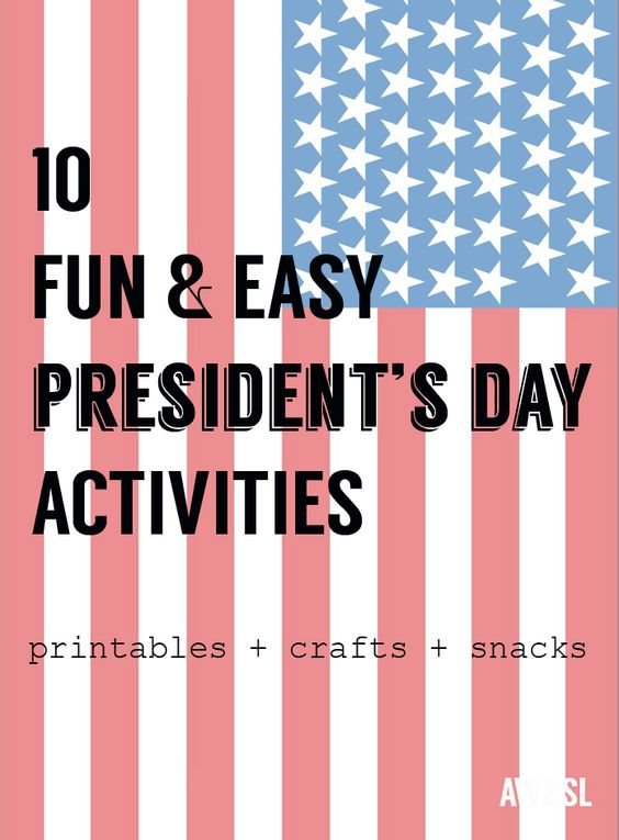 10 Presidents Day Activities: