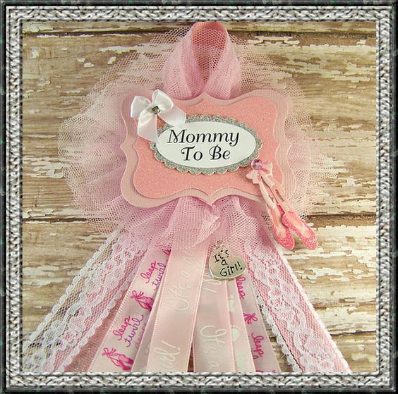 ballerina mommy to be corsage baby shower corsage mom badge mom corsage ballet corsage on etsy
