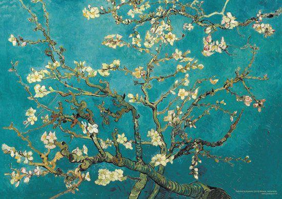 Vincent van Gogh Amandelbloesem-Almond Blossom poster 50x70cm.