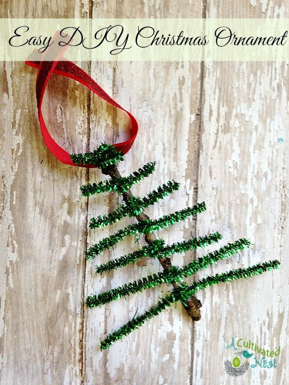 Pipe Cleaner Christmas Tree Ornament Craft Christmas