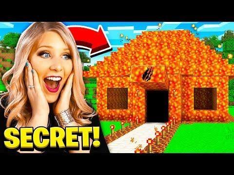 I Found Prestonplayz Secret Lava Minecraft House Video Game Room Design Preston Playz Minecraft Secrets