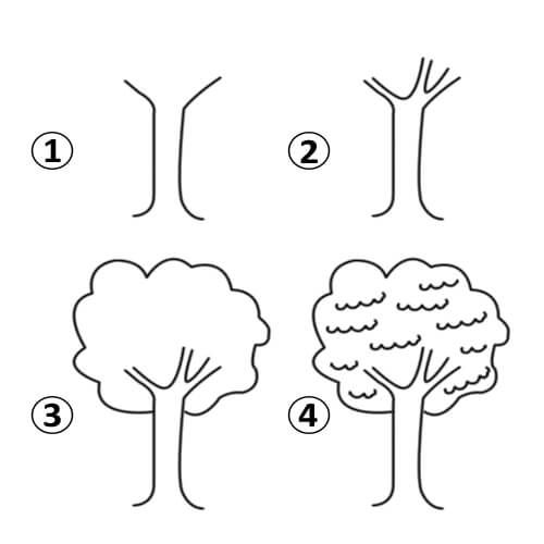 رسم شجرة بالخطوات والفيديو Art