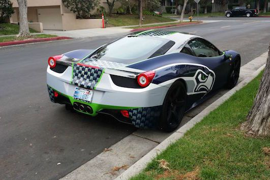 Seattle Superfan Drives Customized Seahawks Ferrari 458 Italia | Bleacher Report