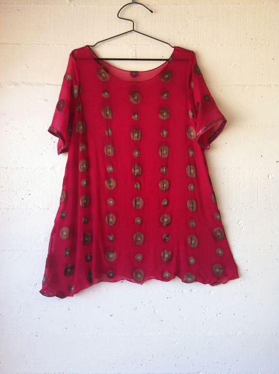100 acts of sewing blog. dress no.39 .silk sari fabric. pattern: own