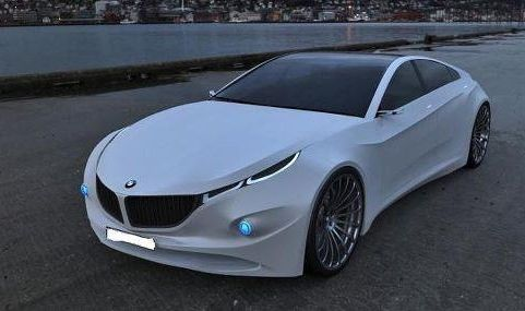 BMW Concept Car With Very Bad Lines.