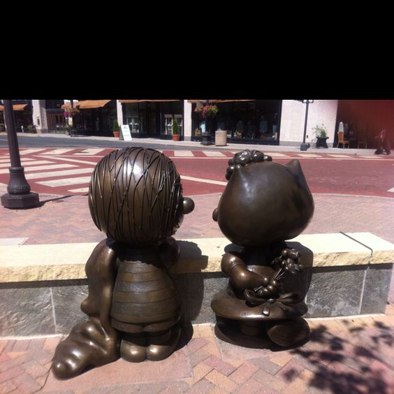 Linus & Sally outdoor sculptures, Rice Park, St. Paul MN