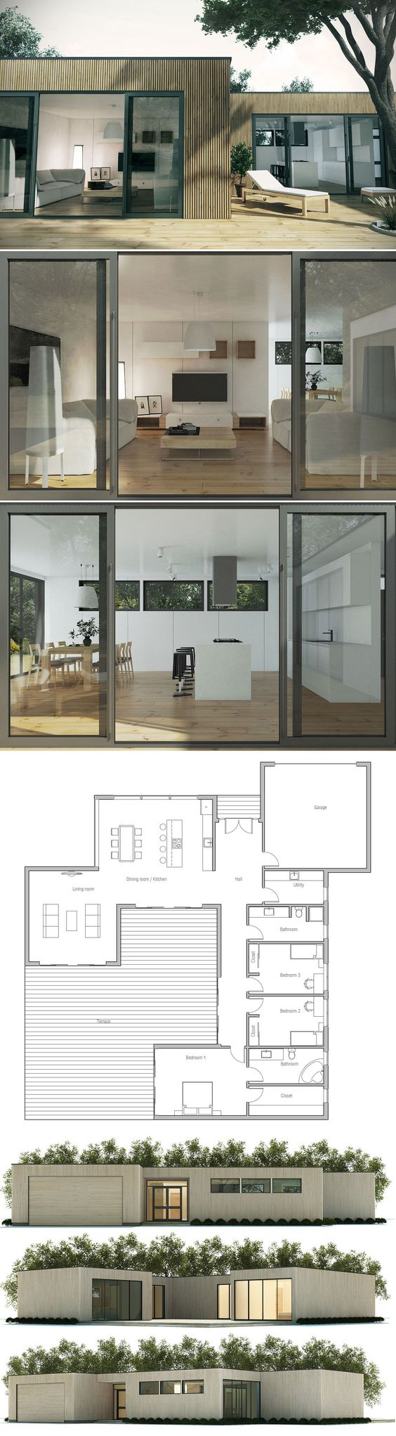Small home plans small homes and home plans on pinterest for Dream kitchen house plans