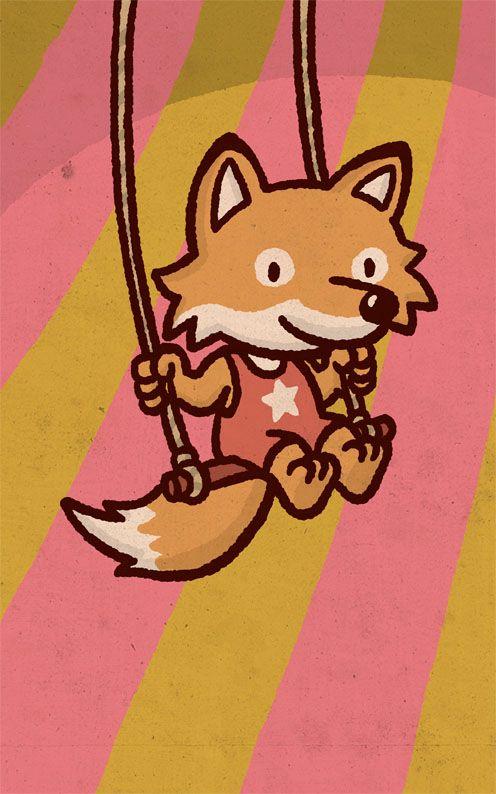 Foxy - Birth Card for Lazy lou