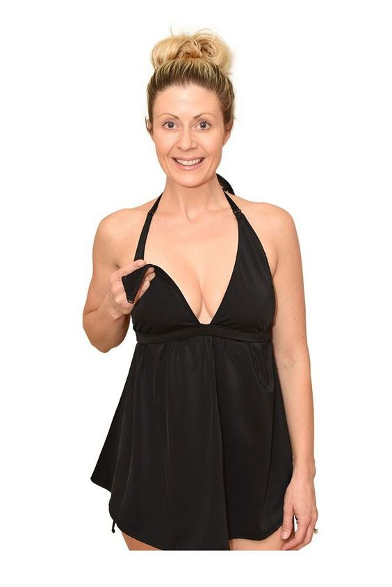 Aria Nursing Tankini Top in Black.  Please use coupon code NewProducts to receive 15% off these items. To receive the discount, please place your order by midnight Monday, June 6, 2016