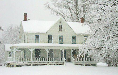 pretty-seasonal: Snow on North East Farmhouse by LocationCreator