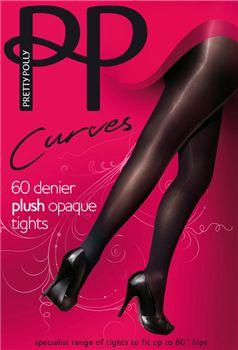 Pretty Polly Curves APP5. Deze 60 Denier opaque panty is speciaal voor vrouwen met mooe rondingen. Zeer luxe afgewerkt en met een comfortale pasvorm. we hebben ze in de maten 46 t/m 60.