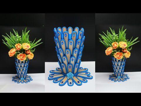 Ide Kreatif Vas Bunga Dari Stik Es Krim Yang Cantik Popsicle