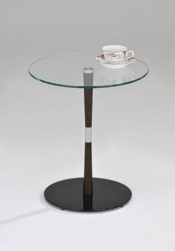Kings Brand Chrome / Walnut Finish With Glass Top Accent Side Table by Kings Brand Furniture. Save 83 Off!. $46.99