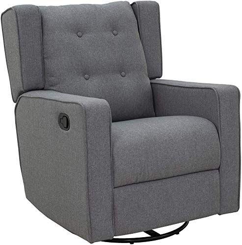 Amazing Offer On Homcom Linen Fabric Swivel Gliding Recliner Sofa Chair Grey Online Upholstered Rocking Chairs Reclining Sofa Upholstered Sofa