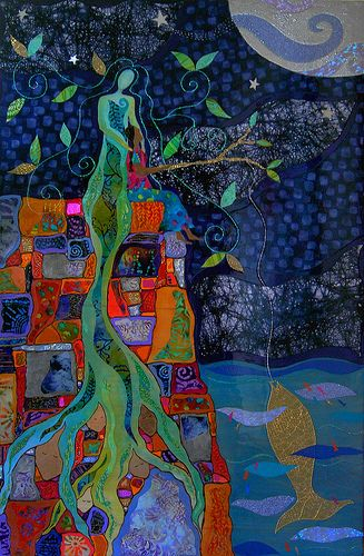"""Alma De La Melena Cox - Collage fusion artist... """"Telemadera""""."""