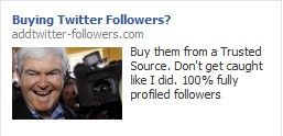 2012 presidential candidate buying twitter followers
