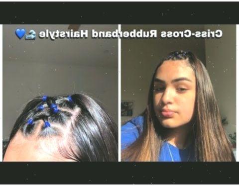 Criss Cross Rubberband Hairstyle Youtube Lockigefrisuren Curlyhairstylesrubberbands Haircuts Straight Hair Baddie Hairstyles Curly Girl Hairstyles