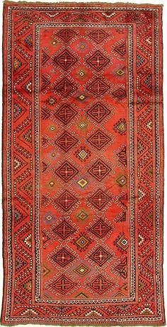 4' 8 x 9' 2 Red Shiraz Persian Rugs