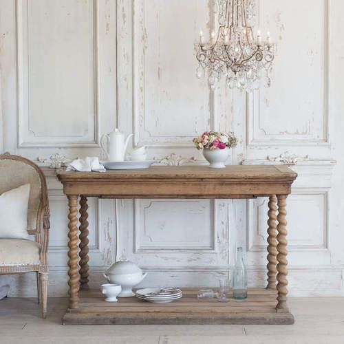 Antiques Tables Drapery Tables Eloquence Natural Wood Console Table Small Console Tables Antique Table