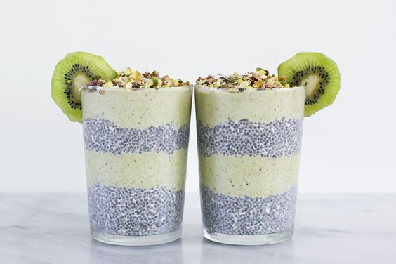 This parfait started it all. The first parfait I ever made. The first  experience I had experimenting with chia pudding. Still one of my  absolutely favorites. The pistachio-banana nice cream is to die for.  There's something so luxurious about it. Try it, and you will see.  The recipe is actually quite simple. Freeze the bananas and make the chia  pudding the night before, and you're pretty much good to go. I like to  layer one on top of the other, but I could also imagine the two swirled…