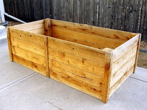 Raised Garden Beds   Do It Yourself Home Projects From Ana White   1x6  Cedar Fence Boards. The Length Is A Whole Board, So About 6 Ft Long, Width  Iu2026