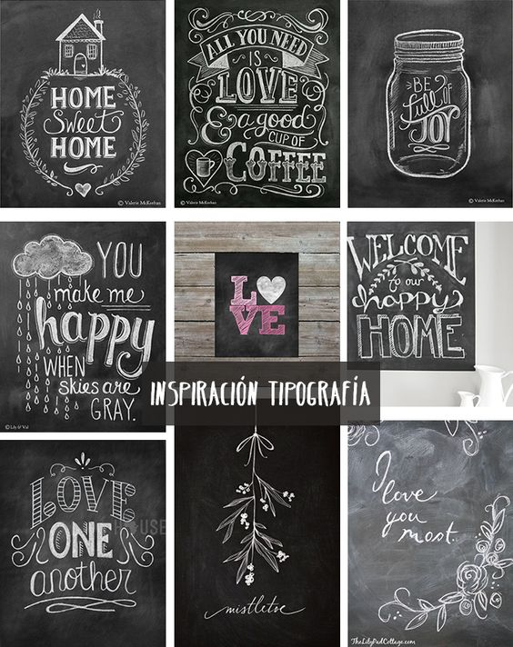 Inspiración para llenar de mensajes bonitos las paredes de nuestra casa. ¡Nos encanta! Por @bonitismos #deco #pizarra #decoracion: