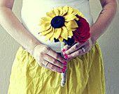 Large Felt rosette and rose bouquet- pick your colors. $85.00, via Etsy.