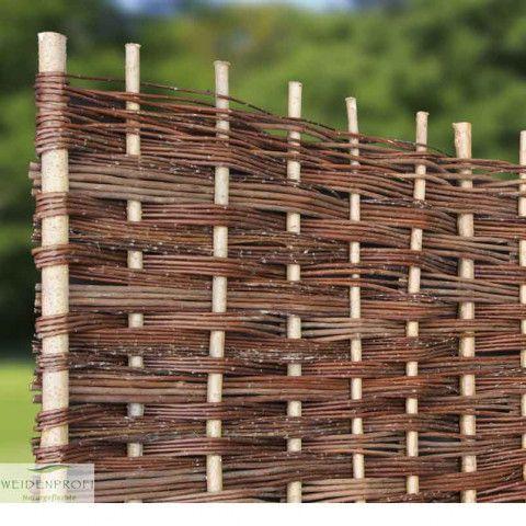 Weidenzaun Sichtschutzzaun Flechtzaun /'Stick/' als Sichtschutz und Windschutz