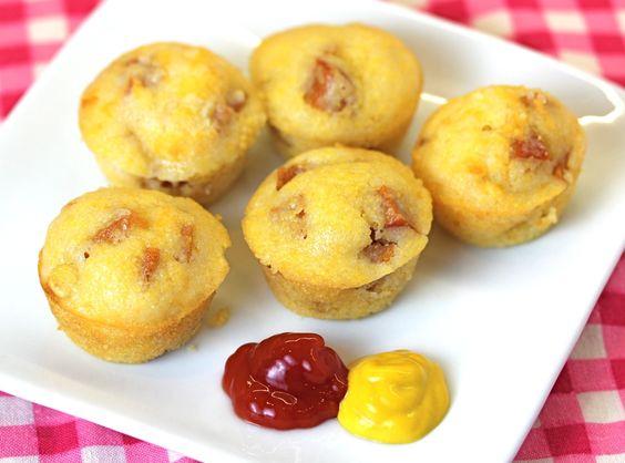 Baked Corn Dog Muffins: Hotdog, Corndog Muffin, Food Drink, Baked Corn Dog, Corn Dog Muffin