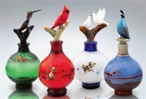 Bird Perfume Bottles by Chris Pantos (Art Glass Perfume Bottles ...