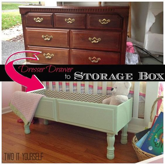 Dresser Drawer To Storage Box Project Chalk Paint Diy
