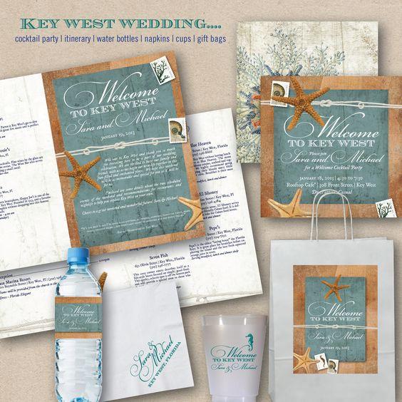 Design Fee Key West, Florida Travel Brochure Wedding Invitation