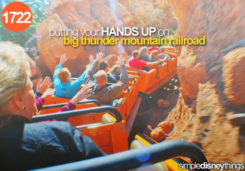 1722. Putting your Hands up on big thunder mountain railroad
