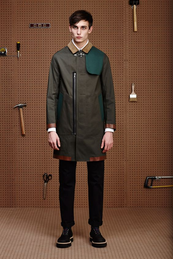 Band of Outsiders Fall 2015 Menswear - Collection - Gallery - Style.com  YASSSSSS COAT!