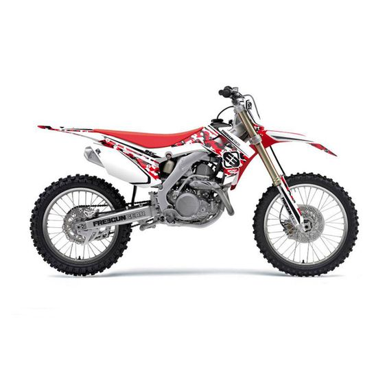 Kit deco cross honda freegun camo 250cc crf 10 13 for Accessoire deco rouge
