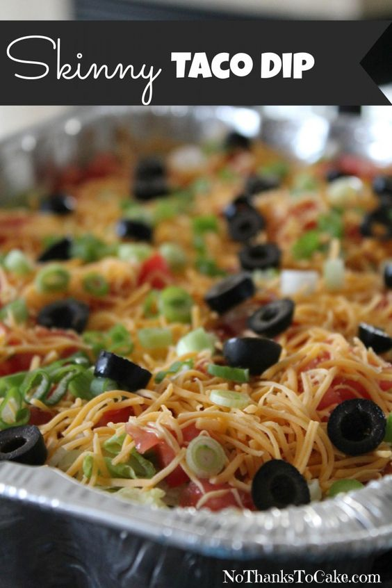 Skinny taco dip, Taco dip and Tacos on Pinterest