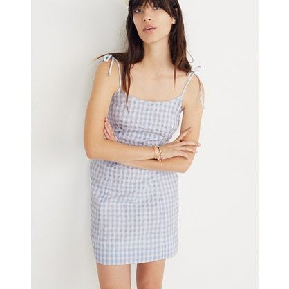 Gingham Tie-Strap Dress for the perfect Charleston summer outfit