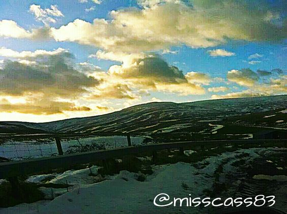 Entering Scotland over the East English boarder Feb 2013