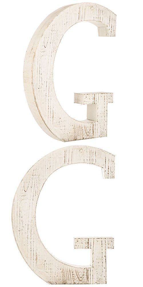 Distressed White Alphabet Wall Decor Free Standing Monogram Letter G Alphabet Wall Monogram Letters Lettering
