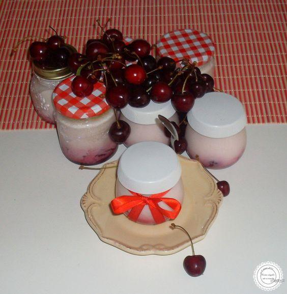 Coisas simples são a receita: Iogurte de cereja