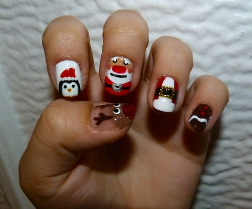 christmas nail art | Tumblr check out www.MyNailPolishObsession.com for more nail art ideas.