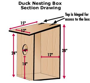 DU link to wood duck nesting box plans.