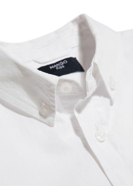 Camisa Oxford - MangoKids - Branca - 9.99 €